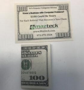 100 Dollar Ad